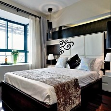 热门面积81平现代二居卧室实景图片