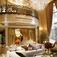 136平米欧式别墅客厅装修实景图