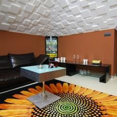121平米现代复式客厅装修图片