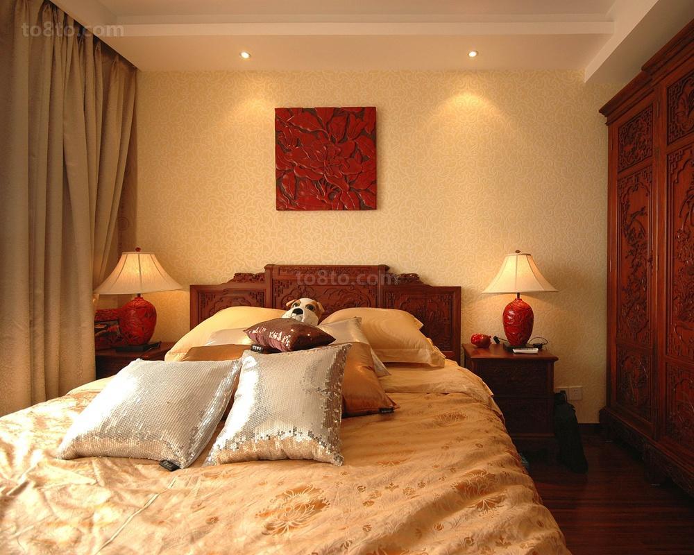 主卧室床头装饰画效果图欣赏