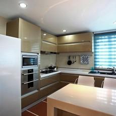 现代半开放式厨房装修效果图大全