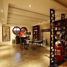 中式风格开放式书房装修效果图