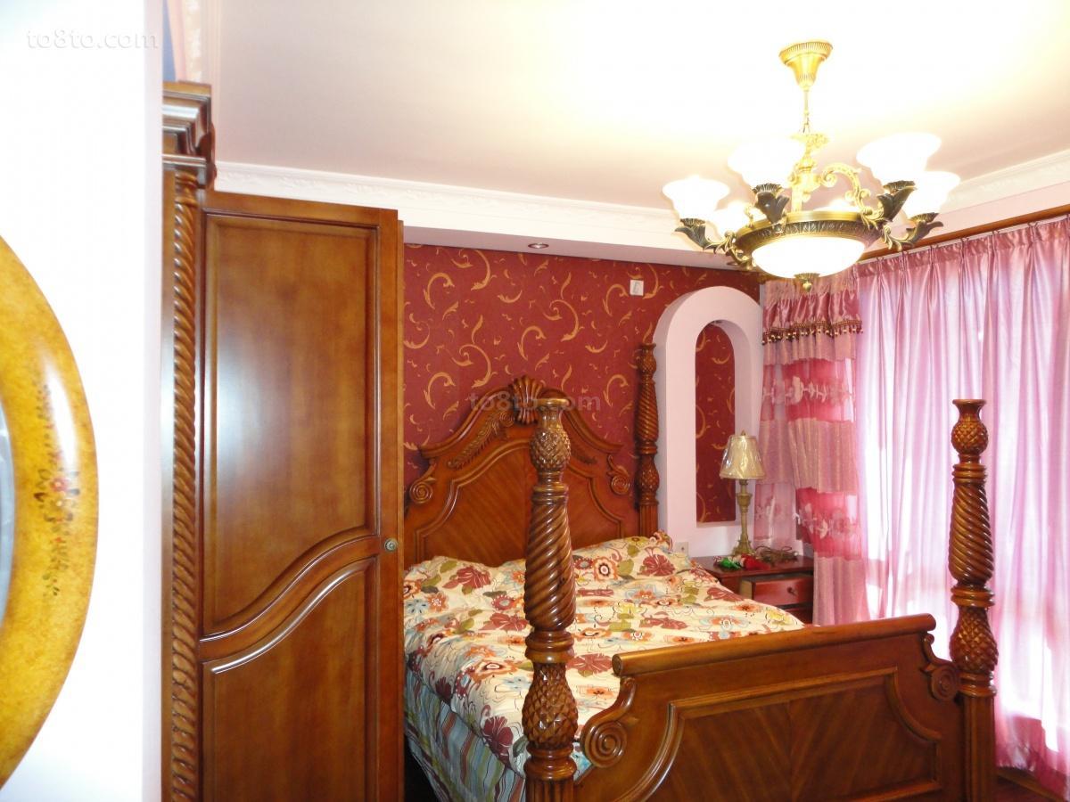 热门面积79平小户型卧室田园装饰图片大全