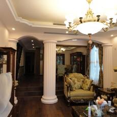 精选面积135平复式客厅田园装修实景图片大全