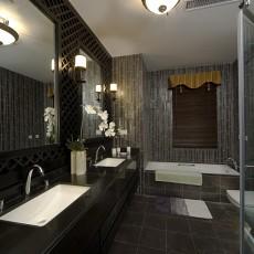 精美94平米三居客厅中式装修效果图片