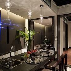 精美面积90平小户型餐厅中式效果图片欣赏