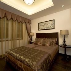面积91平中式三居卧室效果图片欣赏