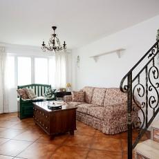 热门面积130平复式客厅田园装修图片