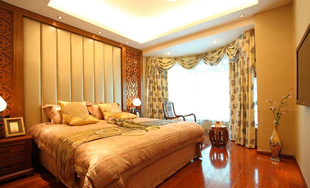 新中式20平米卧室装修效果图