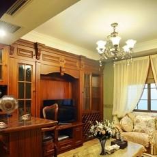 美式复式二楼小客厅装修效果图