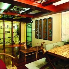 热门120平米中式别墅书房效果图片大全