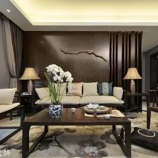 精美面积74平现代二居客厅装饰图片欣赏
