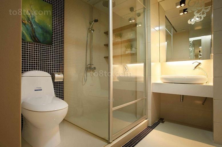 热门面积74平小户型卫生间简约装修效果图片大全