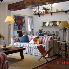 精选142平米地中海复式客厅实景图