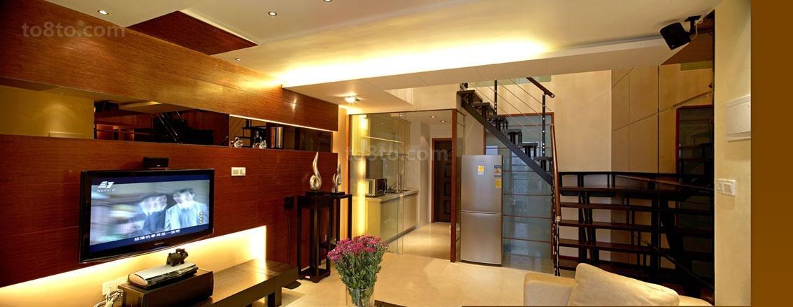 热门面积117平复式客厅现代效果图片欣赏
