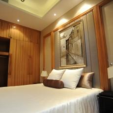 76平米现代小户型卧室实景图