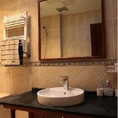 简中式洗脸盆柜组合图片