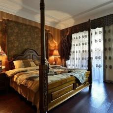 热门面积87平小户型卧室美式实景图片