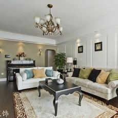 2018精选面积70平美式二居客厅装修图片