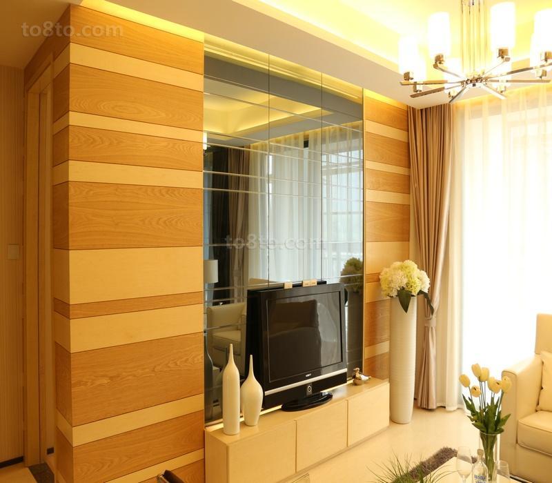 镜面玻璃电视背景墙装修效果图