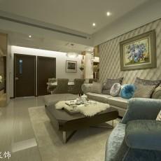 2018面积89平欧式二居客厅装修图