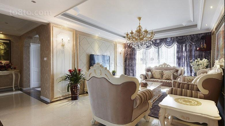 2018精选面积88平小户型客厅欧式设计效果图