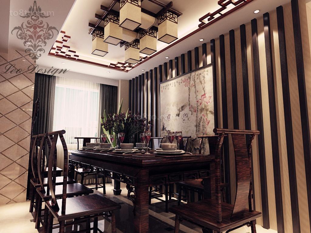 中式小户型餐厅装修欣赏图片大全