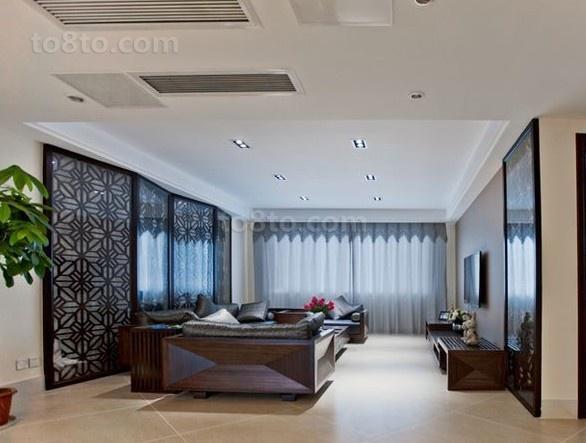 精美82平米二居客厅中式装修设计效果图片大全