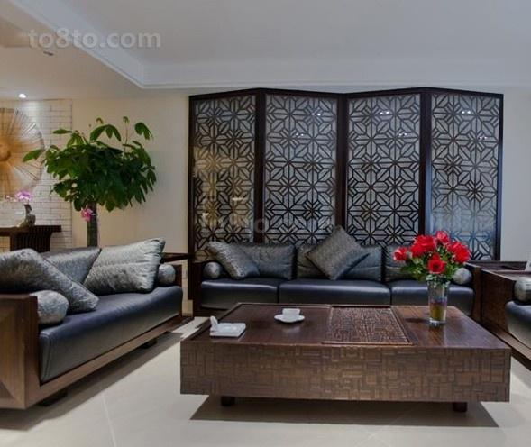 精选一居客厅中式装修设计效果图片