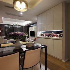 2018精选86平米现代小户型餐厅装修实景图