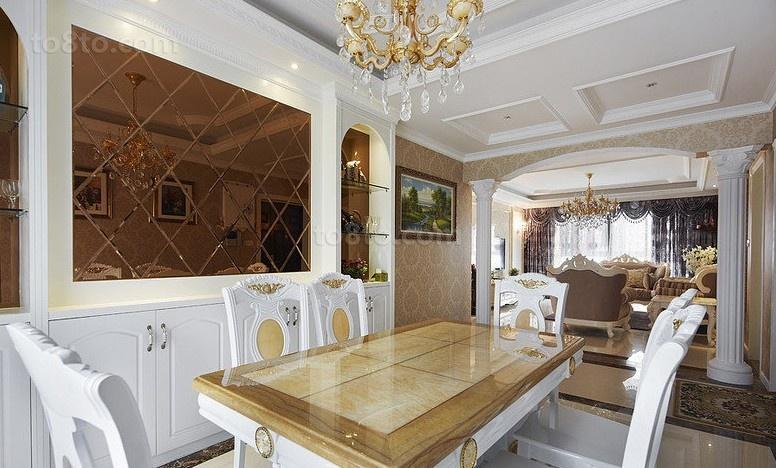 热门面积81平小户型餐厅欧式装修欣赏图片