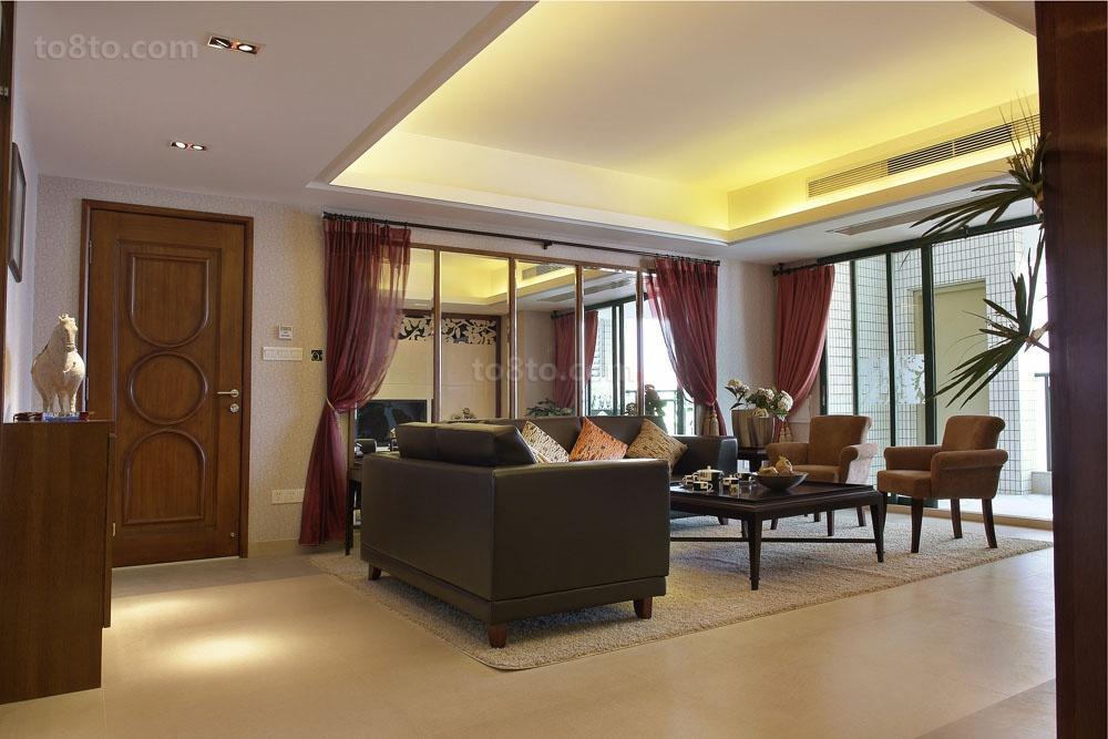 精美小户型客厅中式效果图