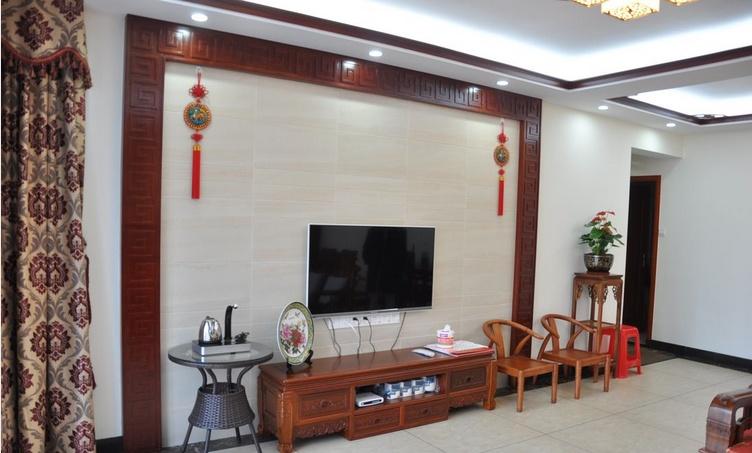 热门72平米中式小户型休闲区装饰图片欣赏