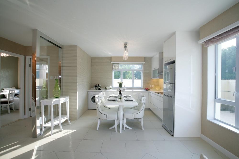 簡歐風格開放式廚房餐廳裝修效果圖