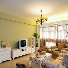 热门77平米田园小户型客厅装修图片欣赏