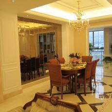 精美面积108平欧式三居餐厅装修欣赏图