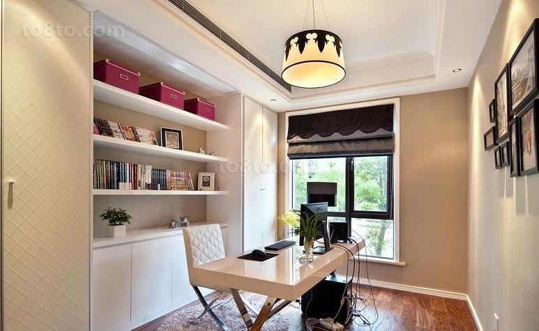 简约欧式书房装修设计效果图