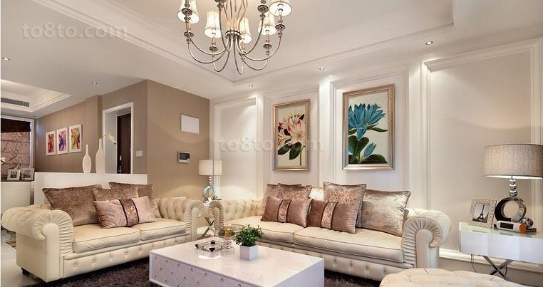 简欧式客厅装修效果图大全图片