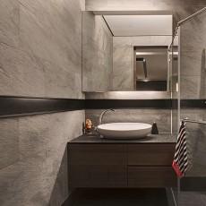 现代卫生间洗脸盆柜组合图片