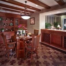 美式装修风格餐厅木龙骨吊顶效果图