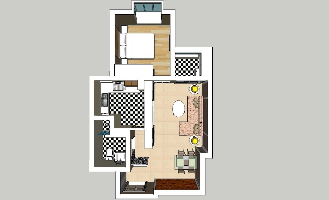 精选房屋设计模型俯瞰图