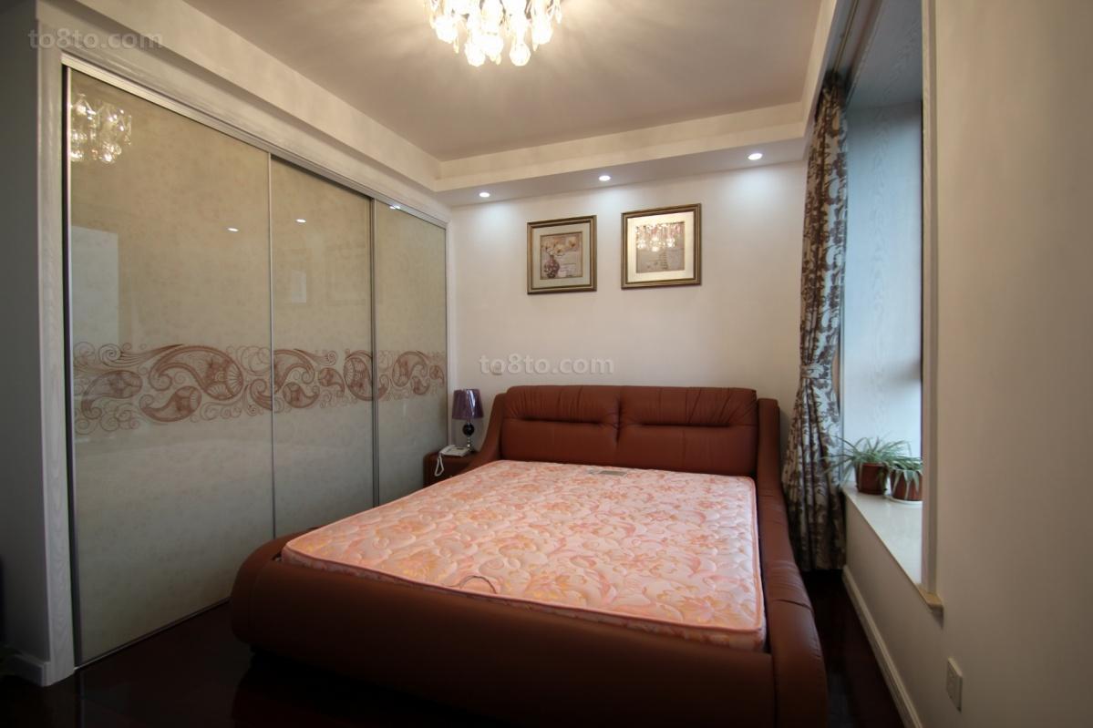 88平米欧式小户型卧室设计效果图