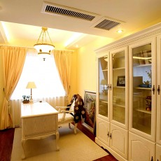 白色欧式家居书房设计图片