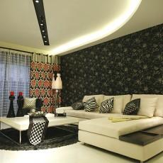 面积80平简约二居客厅装修设计效果图