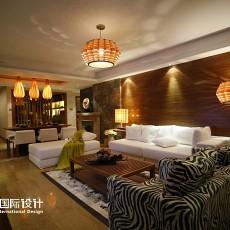 热门二居客厅东南亚装修设计效果图片大全