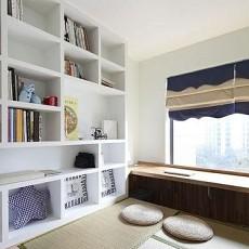 榻榻米书房飘窗装修效果图欣赏