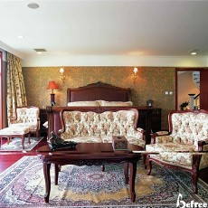 美式风格别墅主卧室装修效果图