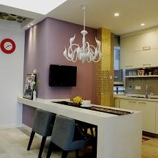 201881平米二居餐厅现代装修实景图