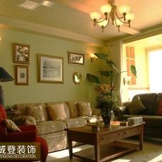 田园风格客厅沙发摆放效果图