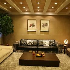 面积75平中式二居客厅实景图片大全